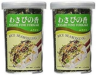 JFC - Wasabi Fumi Furikake (Rice Seasoning) 1.7 Oz. 2 Pack