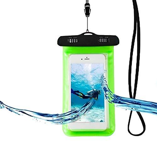 Estuche para Bolsa Seca submarina para teléfono móvil, Verde