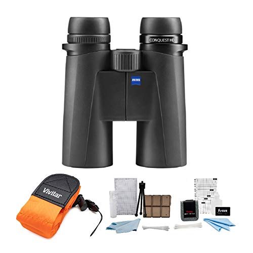 Zeiss 8x42 Conquest HD Binoculars (Black) Bundle with Foam Strap and...