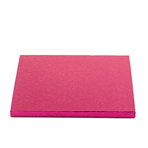 Decora 0931806 Carton pour GÂTEAU CARRÉ Fuchsia 35X35X1,2H, Paper, 35 x 35 x 1,2 cm