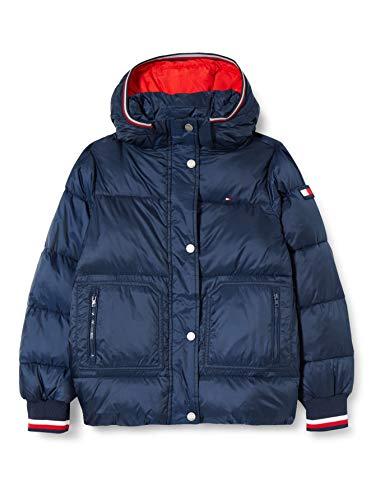 Tommy Hilfiger Mädchen Essential Puffer Jacket Jacke, Twilight Navy, 10
