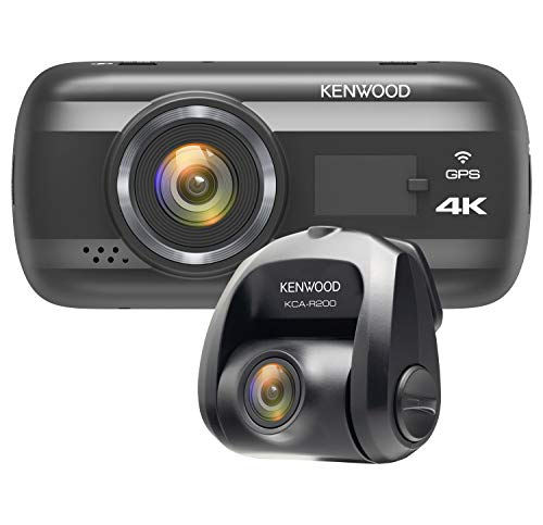 Kenwood DRV-A601W 4K Dash Cam & KCA-R200 Rear View Camera Bundl