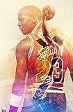 UIOLK Lienzo artístico para conmemorar el Retrato de Kobe, la Superestrella del Baloncesto para Siempre, Cartel de decoración de Mamba Negra, Cartel Popular de Moda