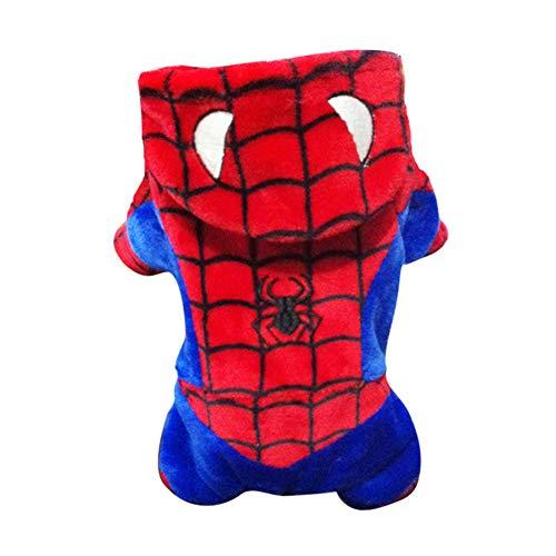 Spiderman cos, Hond Jas, Honden Herfst Winter Jack, Sweater Vest Kleding Kleding, Winddicht en Warm, voor Halloween, Reflecterende Zacht, voor Kleine Middelgrote en Grote Honden, X-Large, Kleur