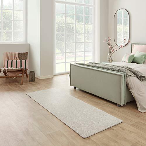 Carpet Studio Santa Fe Läufer Flur 67x180cm, Teppich Läufer für Schlafzimmer, Küche & Flur, Einfach zu Säubern, Weiche Oberfläche, Kurzflor - Stahl/Grau