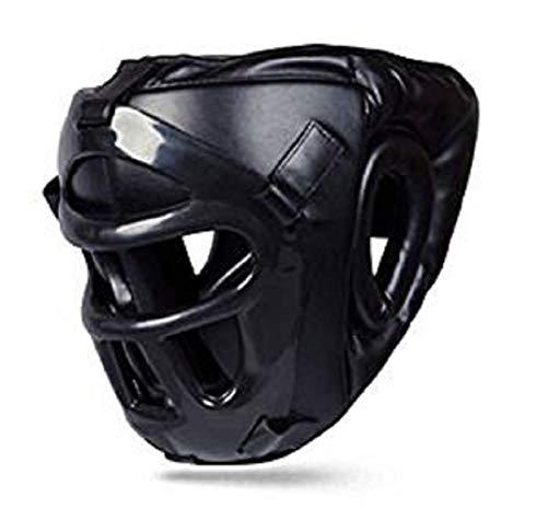 Boom beste Leder Boxen Kopfschutz mit abnehmbarem Maske Kickboxen MMA UFC Kampfsport Helm - Large