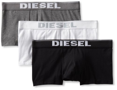 Diesel Herren UMBX-Kory Boxershorts, Mehrfarbig (schwarz/grau/weiß), S (3er Pack)