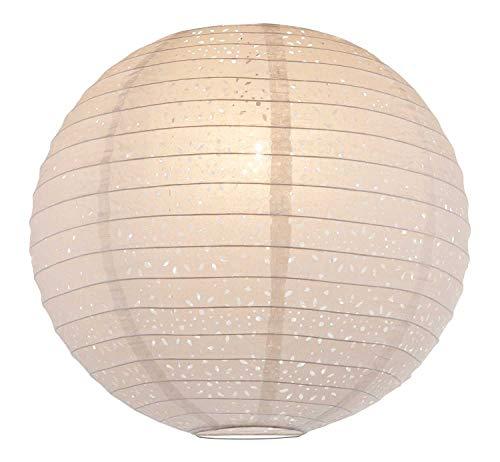 Nicht Zutreffend Papierleuchte Pendelleuchte Deckenleuchte Deckenlampe | Papier | Ø 40 cm | Weiß