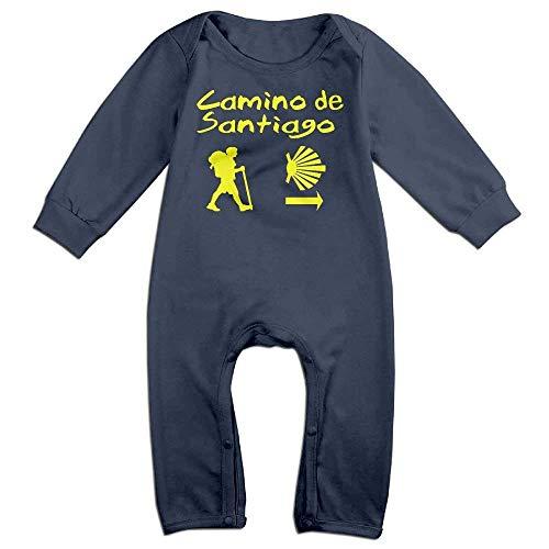 TOPDIY Camino De Santiago Compostela Long Sleeve Baby Romper Bodysuit Outfits Clothes