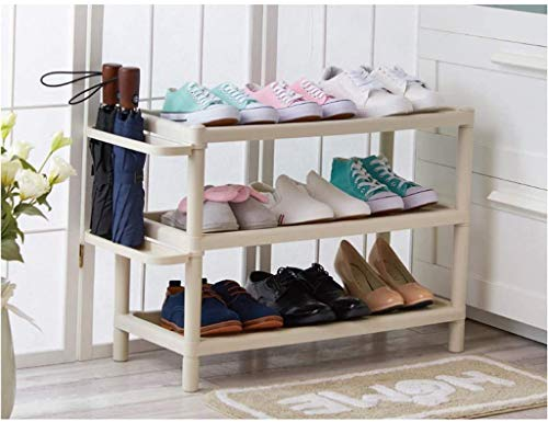 WXR Zapatero De Tres Capas, Zapatero Multifuncional A Prueba De Polvo, Gabinete De Almacenamiento De Zapatos Simple, Zapatero Tridimensional De Combinación De Plástico(Size:M-46.5CM)