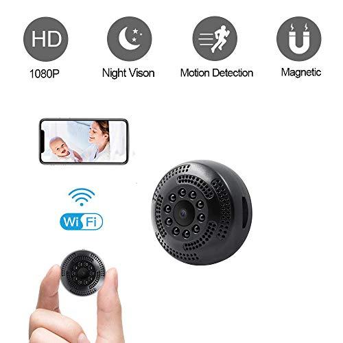 Mini Cámara WiFi Espía Cámara Oculta UYIKOO HD 1080P Cámara Pequeña Cámara Portátil de Seguridad WiFi Cámara IP Inalámbrica con Detección de Movimiento y Soporte de Visión Nocturna App