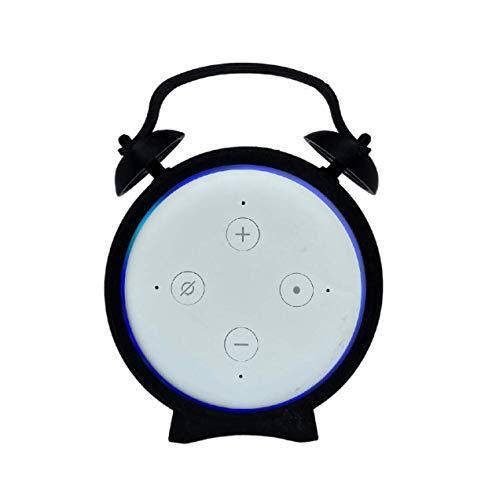 Suporte De Mesa Amazon Alexa Retro Moderno Alarme Echo Dot 3 V2.0 (Preto)