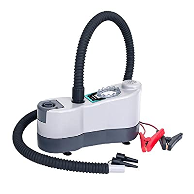 Driftsun High Pressure, High Volume Dual Inflate/Deflate Stage Bravo Electric Pump for Inflatable SUPs, Kayaks, Towables, Docks, and More