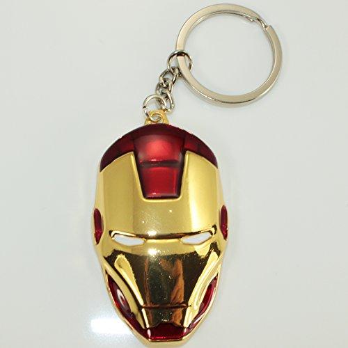Porte-clés avec Tête Rouge et bronze d'Iron Man