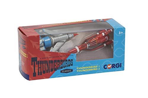 Hornby Corgi Thunderbirds TB1 et TB3 Die Cast Model (Gris / Rouge) CC00901