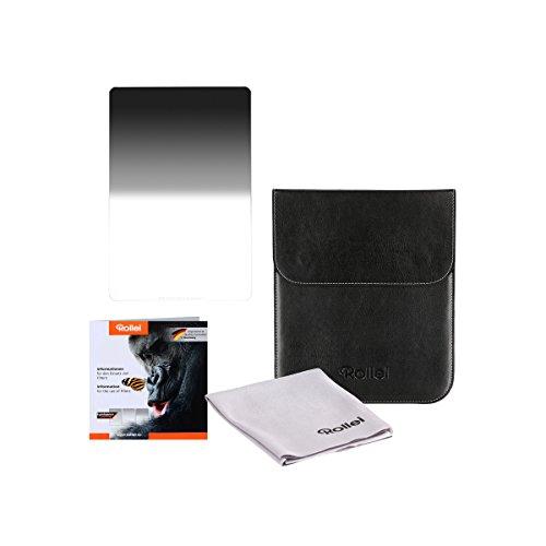 Rollei Profi Rechteckfilter Mark II - Grauverlaufsfilter (150x170 mm) mit weichem Verlauf aus Gorilla Glas - Soft GND 16 (4 Stopps/1,2) 150 mm-System