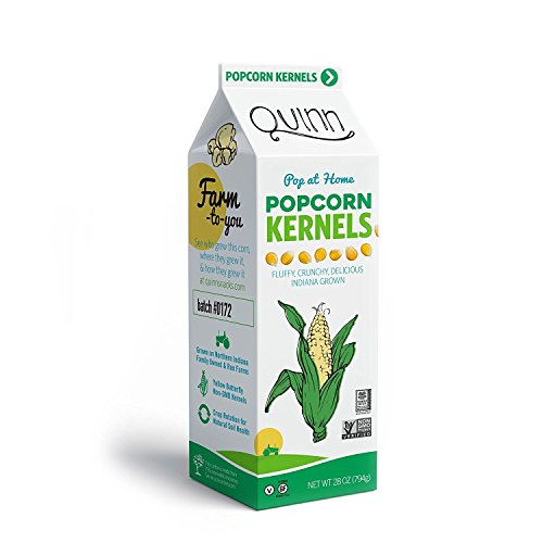 Check Out This Quinn Snacks Popcorn Kernels - Made with Non-GMO Corn, Unflavored, 28 Ounce (12 Count...
