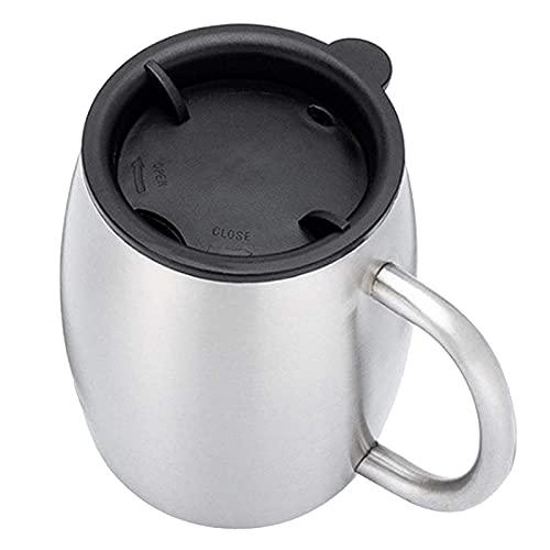 yotijar Taza de Café de Acero Inoxidable Taza Dura con Aislamiento de Doble Pared