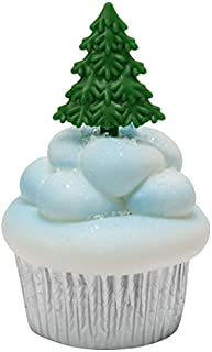 Evergreen Tree Picks Cupcake Toppers - 24 ct