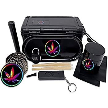 Stash Box Boss Gear- Stash Box All In One Complete Combo Gift Set (Blk Tie-Dye)
