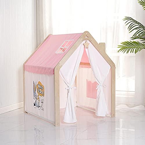 Rosa Tipi Infantil con Luces LED de Estrella,Casita De Tela para Niños de Cabaña Casa para Niñospara Regalo de Niños,920x960x1130cm