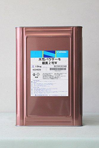 日本特殊塗料 水性パラサーモ 遮熱塗料 15kg 銀黒2号W