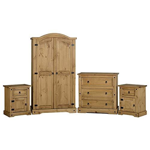 QQDL Dormitorio Pino Encerado En Dificultades 534.95x1794.95x89.95 Cm,Wood Color