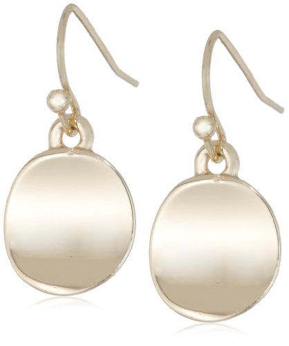 Kenneth Cole New York 'Shiny Earrings' Small Gold Circle Drop Earrings