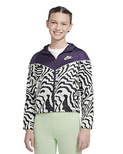 Nike G NSW Windrunner AOP JKT Grand Purple/Vapor Green/Glow M