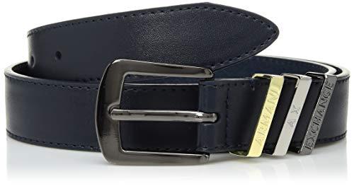 A|X Armani Exchange - Cinturón digonal Loop AX para mujer, color azul marino