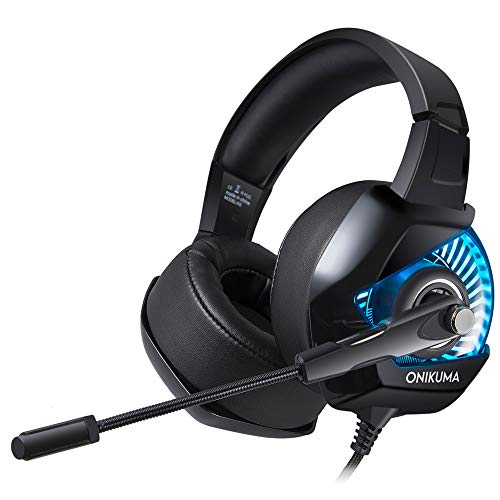 MOLINGXUAN Gaming Headsets, Gaming Headsets, PS4 Headsets, 7.1-Kanal-RGB Light-Emitting Headsets, LED-Rauschunterdrückung und Lautstärke-Controlling Headsets für PC Laptops