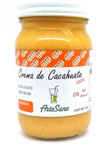 Crema de Cacahuate 100 % natural artesanal sin sal azúcar o conservantes artificiales CONTENIDO 237…