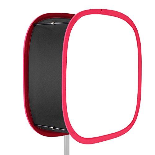 Neewer Zusammenklappbarer Softbox Diffusor mit rotem Rand für 480LED Panel mit Riemenbefestigung und Tragetasche für Portrait Videoaufnahmen Foto Studio