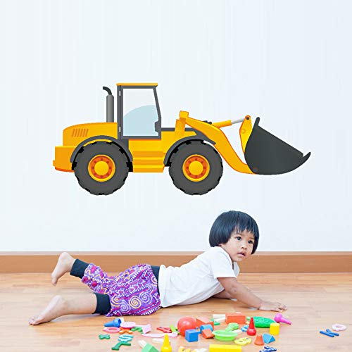 JXGG Cartoon LKW Traktor Auto Wandaufkleber Kinderzimmer Fahrzeug Wandtattoo Kunst Poster Fototapete Wohnkultur Wandtattoo
