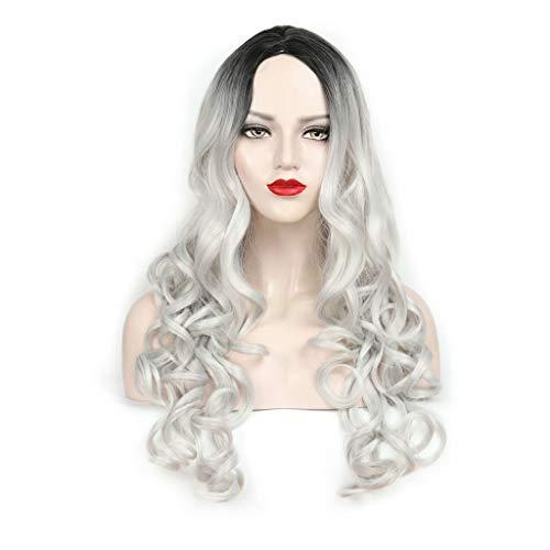 GCX Charme Perruque Longue Perruque de Cheveux bouclés Mesdames Gradient Perruque de Mode Charmant