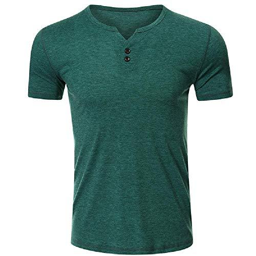 Kurzarm-T-Shirt Herren Mode Marke Herren Customized T-Shirt Cross Border Beliebtes Herren T-Shirt Gr. XL, grün