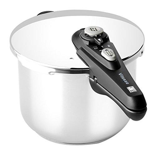 BRA RÁPIDA Vitesse Olla de 6 litros apta para todo tipo de cocinas incluida inducción, Acero Inoxidable, Plata, 22 cm