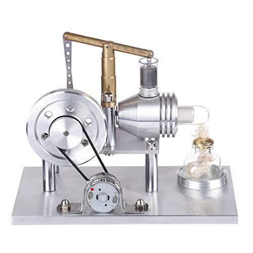 Mecotecn Kit de construcción de motor Stirlingmotor de equilibrio Stirling, modelo DIY física, experimentación de la enseñanza, juguete creativo