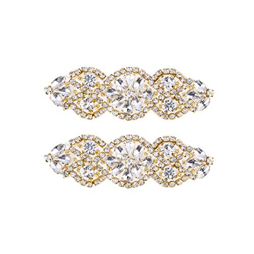HEALLILY 2 Piezas Apliques Diamantes Imitación para Vestido de Novia para Bricolaje...