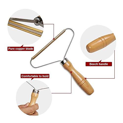 Removedor de pelusas portátil, reutilizable, afeitadora de ropa cortada, 2 piezas, afeitadora...