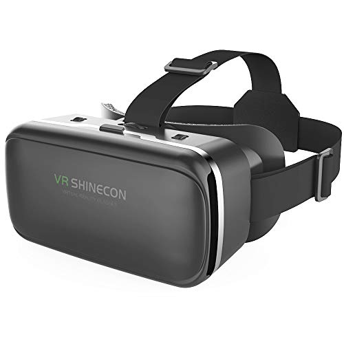VR Headset,Virtual Reality Headset, VR SHINECON 3D VR Glasses for TV, Movies & Video Games - Virtual Reality Glasses VR Goggles Compatible with iOS, Android and Other Phones Within 4.7-6.2 inch