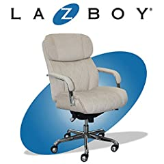 FULL-BODY SUPPORT: Ergonomic office chair with generous padding on the headrest, arms, seat, and back LUMBAR SUPPORT: Contoured lumbar cushion for added support during long working sessions STYLISH DESIGN: Diamond-quilted leather upholstery adds a mo...