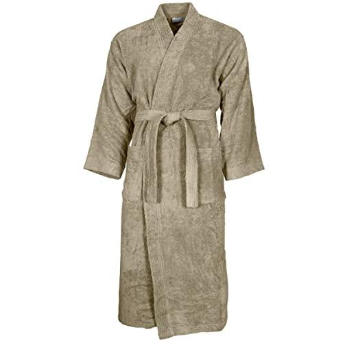 accappatoio donna 420 gr Sensei La Maison du Coton - Accappatoio con collo a kimono tinta unita