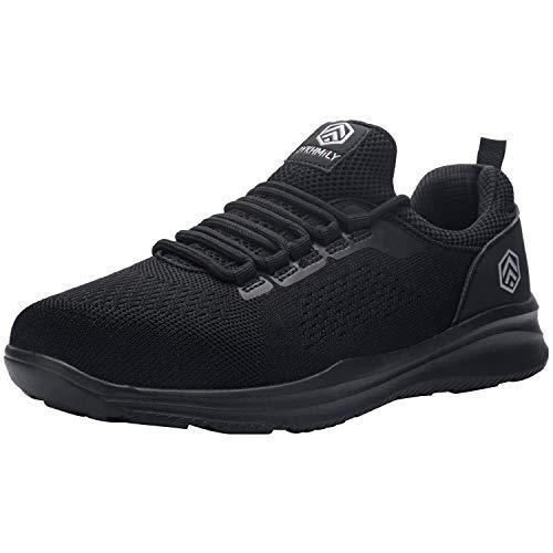 DYKHMILY Steel Toe Sneakers for Men Women