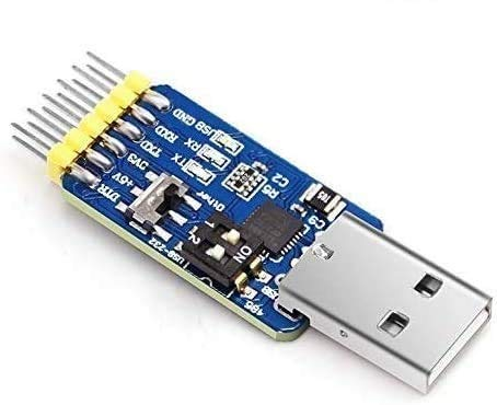 ICQUANZX USB-UART-Konverter 6-in-1 Multifunktionales USB-TTL, USB-RS485 USB-RS232 TTL-RS232 TTL-RS485, RS232 bis RS485 Serieller Adapter mit CP2102-Modul Kompatibel mit Windows 7,8, Linux, Arduino