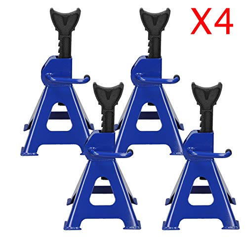 Jack Stands Set of 4PCS Heavy Duty Jack Stand Steel Adjustable Height 11 1/2 - 16 1/2 Inch Self-Locking Car Lift Auto Repair Tools, 6 Ton Capacity in Total