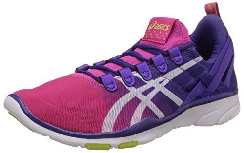 ASICS Women's Gel- Fit Sana Purple, White and Fushia Mesh Dance Shoes - India