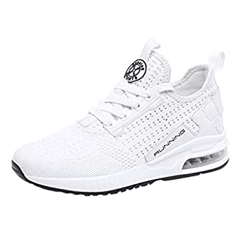 Goddessvan 2019 Couple Woven Breathable Cushion Sneakers Mesh Athletic Sport Walking Shoes Outdoor Sneakers White