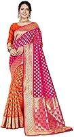 CLOTHAM Women's Banarasi Silk Saree (Clotham_109_Parent)