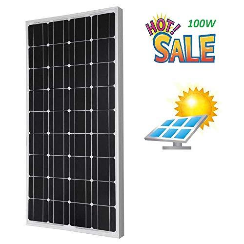 Giosolar Panneau Solaire monocristallin à Haute efficacité pour Charge de Batterie 100 W 12 V